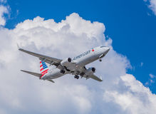 美国航空喷气机 库存照片
