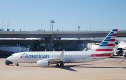 美国航空喷气机 免版税图库摄影