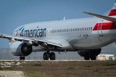 美国航空波音737 库存照片