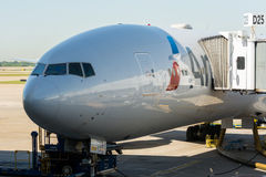 美国航空波音777 库存照片