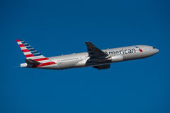 美国航空波音777 免版税图库摄影