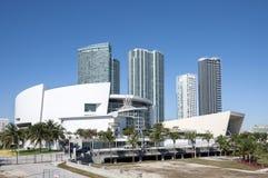美国航空竞技场在迈阿密,佛罗里达 免版税库存照片
