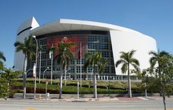 美国航空竞技场,迈阿密,佛罗里达 免版税图库摄影