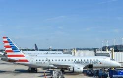 美国航空老鹰飞机 库存照片