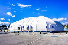 美国航空航天局艾姆斯研究中心访客中心 库存照片