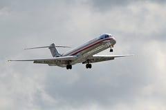 美国航空麦克当诺道格拉斯公司DC-9-82 (MD-82) 库存图片