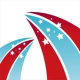 美国色的星形背景 库存例证