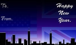 美国英国新年好 免版税库存照片