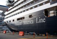 美国荷兰端口船 库存照片