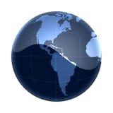 美国蓝色映射世界 免版税库存图片