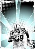 美国蓝色橄榄球海报 免版税图库摄影