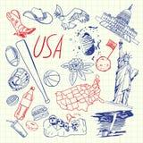 美国被画的标志笔乱画传染媒介汇集 向量例证