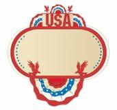 美国装饰框架 免版税库存图片