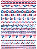 美国装饰边界,装饰规则,分切器 库存例证