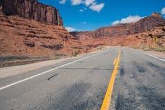 美国西部高速公路 库存照片