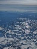 美国西部--从在高处30,000英尺 免版税库存照片
