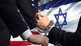美国认可以色列,被束缚的胳膊,政治或者经济冲突 股票录像