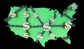 美国财务s手铐 图库摄影