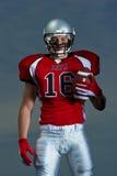 美国足球运动员画象 图库摄影
