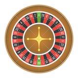 美国轮盘赌的赌轮传染媒介 图库摄影
