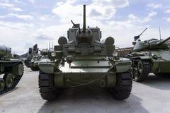 美国轻型坦克M3斯图尔特在军用设备博物馆  免版税库存照片
