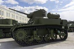 美国轻型坦克M3斯图尔特在军用设备博物馆  图库摄影