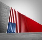 美国边界墙壁 向量例证