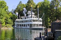 美国迪斯尼乐园标记河吐温 库存照片