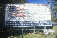 美国退伍军人协会的一个标志 免版税库存照片