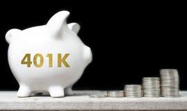 美国退休储款概念 库存照片