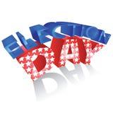 美国选举日 免版税库存照片