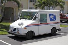 美国邮政局卡车 库存图片