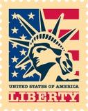美国邮票。 皇族释放例证