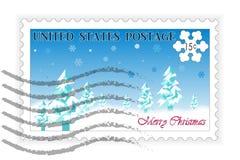 美国邮票圣诞节 免版税库存图片