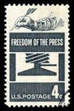 美国邮票新闻自由 免版税库存照片