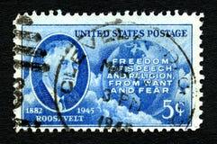 美国邮票 库存图片