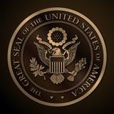 美国金子的国玺 皇族释放例证