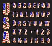 美国金字体 免版税图库摄影