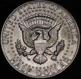 美国银色半元硬币 库存图片