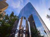 美国银行办公室在俄克拉何马市-俄克拉何马市-俄克拉何马- 2017年10月18日耸立 图库摄影