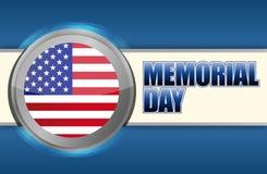 美国阵亡将士纪念日标志 库存图片