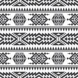 美国阿兹台克传染媒介无缝的纹理 当地部族印地安反复样式 库存例证