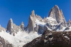美国阿根廷美好的fitz glaciares使los mt国家天然公园巴塔哥尼亚roy南部环境美化 fitz roy 库存照片