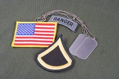 美国陆军一等兵镭 免版税图库摄影