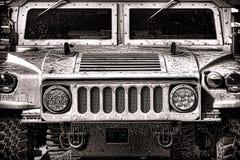 美国陆军军事Humvee车前面 免版税库存照片