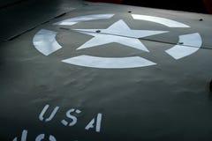 美国陆军吉普军人 图库摄影