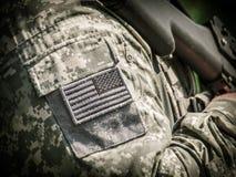 美国陆军战士 免版税库存图片