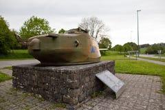 美国陆军的纪念碑在巴斯托涅,比利时 免版税库存图片