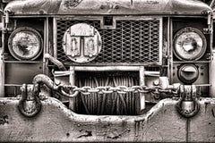 美国陆军老局末平分和一个半卡车前面格栅 库存图片