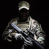 美国陆军绿色贝雷帽 库存图片